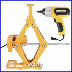 Car Electric Scissor Jack Lift 170-420mm 3 Ton DC 12V With Impact Wrench Set