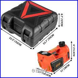 Car Jack 12V DC 5 Ton Electric Hydraulic Floor Lift Jack Tire Inflator Pump Tool