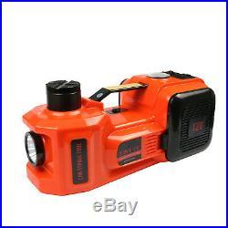 Car Jack Lift 12V 5 Ton 4 in 1 Electric Hydraulic Floor Jack Tire Inflator Pump