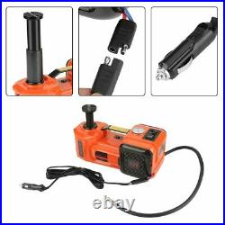 Car Jack Lift 12V 5 Ton Electric Hydraulic Floor Jack &Impact Wrench Repair Tool