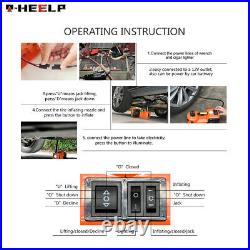 Car Jack Lift 12V 5Ton Electric Hydraulic Floor Jack Impact Wrench Tire Tool Kit