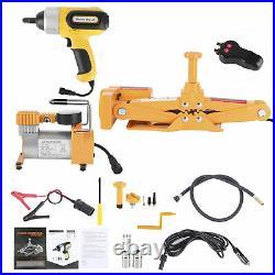Car Repair Tool 3 Ton Electric Jack Air Pump Set For SUV Tire Replace Repair