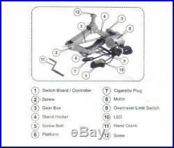 ELECTRIC 2 TON 12V CAR TIRE CHANGE SCISSOR LIFT JACK KIT for Car Truck SUV su0