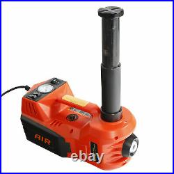 Electric 12V Car Jack 5 Ton Floor Jack Lift with Impact Wrench &Tire Inflator Pump