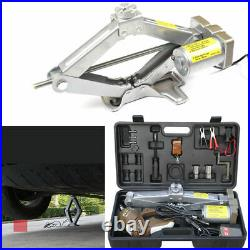 Electric Car Jack 5 Ton DC 12V Automatic Lift Scissor Automotive Garage Repair