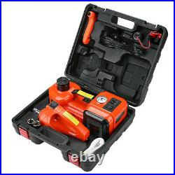 Electric Car Jack Kit 5 Ton with Power Impact Wrench and Tire Inflator Pump Lift
