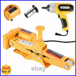 Electric Car Jacks 3Ton 12V Automatic Lift Scissor Automotive Garage Repair Tool