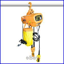 Electric Chain Hoist 2200 lb. Electric Crane Hoist HD Super 1 Ton 10ft Lift