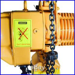 Electric Chain Hoist 2200 lb. Rigging Crane Hoist HD 1Ton 10ft Lift Winches
