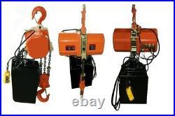 Electric Chain Hoist 6000LB / 3 TON electric crane hoist single phase 25ft chain