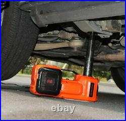 Electric Hydraulic Car Jack & Impact Wrench & Tire Inflator Kit 12v -5 Ton -new