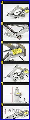 Electric Hydraulic Floor Jack 5 Ton DC 12V Car Jack Lift Tire+Elec-wrench Tool