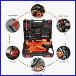 Electric Hydraulic Floor Jack Car Jack Lift 5 Ton 12V DC Electric Impact Wrench
