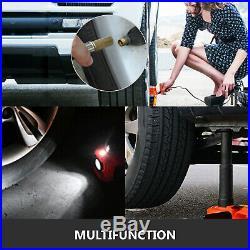 Electric Hydraulic Floor Jack Car Jack Lift 5 Ton 12V DC Tire Inflator Pump