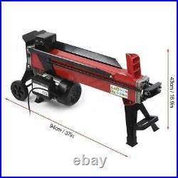 Electric Hydraulic Log Splitter 7-Tons Wood Portable Cutter Powerful 2200W 15A