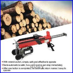 Electric Hydraulic Log Splitter Wood Portable Cutter Powerful 7-Tons Splitting