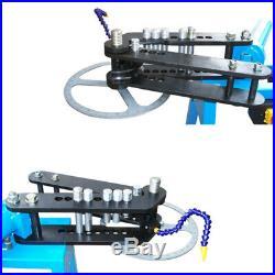 Electric Powered 10 Ton Hydraulic Pipe Tube Bender Bending 110 Volt 3 Dies