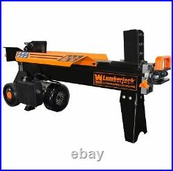 Electric Tree Fire Wood Log Splitter With Stand Cutter Heavy Duty 6.5-Ton New
