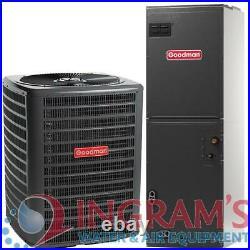 GSZ140241, ARUF25B14 2 Ton 14 SEER Multi Speed Goodman Central Heat Pump Split Sy