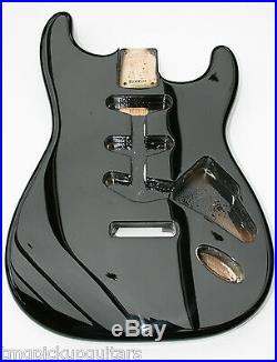 Göldo Korpus Strat US alder in Farbe black schwarz hochwertig wie 60 er Tonholz