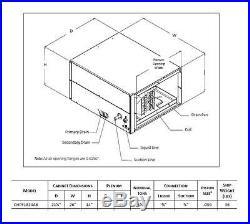 Goodman 1.5 -2 Ton Horizontal Case Evaporator Coil 21W x 14H x 26D CHPF1824A6