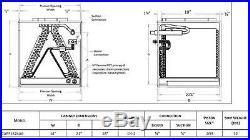Goodman 1.5 to 2 Ton Cased Evaporator Coil 14W x 18H x 21D CAPF1824A6
