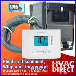 Goodman 2.5 Ton 14 SEER AC System withAux Electric Heat + Line Set Install Kit