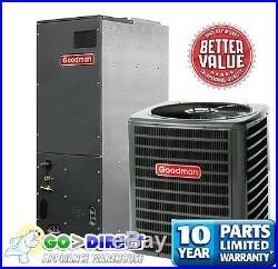 Goodman 2.5 Ton 14 SEER Heat Pump Split System GSZ140301+ARUF31B14 New Model