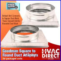 Goodman 2.5 Ton 14 SEER Packaged Heat Pump Unit Install Kit, Free Accessories