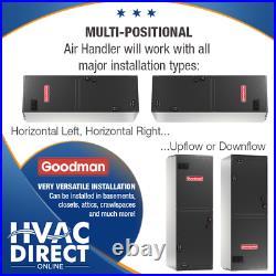 Goodman 2 Ton 14 SEER AC System withAux Electric Heat + Line Set Install Kit