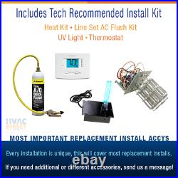 Goodman 3 Ton 14 SEER AC System withAux Electric Heat + Replacement Install Kit