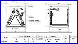 Goodman 3 Ton Cased Evaporator Coil 17 1/2W x 22H x 21D CAPF3636B6