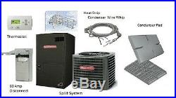 Goodman 5 Ton 14 SEER Heat Pump Split System GSZ140601 with Installation Kit