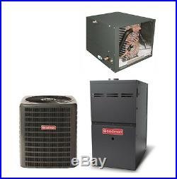 Goodman 5 Ton Gas Furnace 14 Seer Split System AC 80% AFUE Horizontal / 120k btu