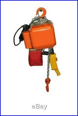 HD Electric Chain Hoist, 1000 lb. 1/2 ton 110V electric crane hoist, 20ft chain