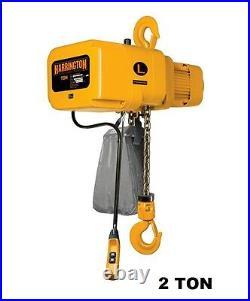 Harrington Ner Electric Chain Hoist, 2 Ton Capacity