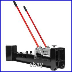 Hydraulic Log Splitter Cut Wood Mobile 12 Tons Cutter Manual Operated with Wheel