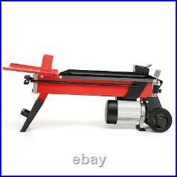 Ironmax 7-Ton Horizontal Electric Log Splitter Wood Cutter Iron 2000W Motor Red