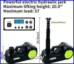 Jack Car Electric Kit With Impact Wrench & Inflator Hydraulic 5-Ton Car SUV Sedan