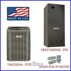 LENNOX 14ACXS036-230 + CBA27UHE-036-230 Fan Coil /3Ton/230-1 + ECB29-9CB-7P 9KW