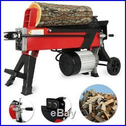Log Splitter 7 Ton Fast Electric Hydraulic Wood Timber Cutter 2200 Watt Motor