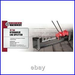 Log Splitter Wood Splitters Non Electric 10 Ton Pump Hydraulic Manual