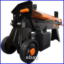 Log Splitter with Stand, Electric 6.5-Ton Log Cracking Pressure Fire Wood Preper