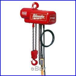 Milwaukee 9565 1 Ton Capacity 10-Foot Lift Electric Chain Hoist Bare Tool