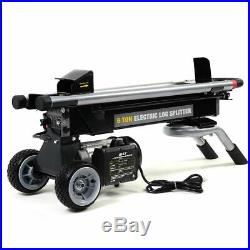 New 1500W 6 Ton Electric Hydraulic Log Splitter Wood Portable Cutter Powerful