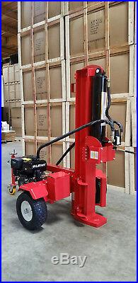 New 50 Ton 15HP Gas Powered Hydraulic Log Wood Splitter Cutter with Electric Start