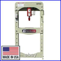 New 50 Ton Iroquois Electric Hydraulic HEAVY DUTY Commercial Shop Press USA Made