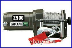 New Badland 2500 lb 1-1/4 Ton 12V Electric UTV ATV Winch Wireless Remote Control