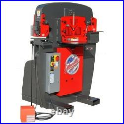 New Edwards 55 Ton Iron Worker Including 9 Free Stand. Round Punch & Dies