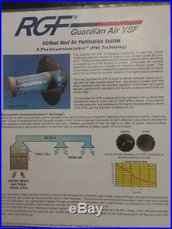 New! RGF GUARDIAN AIR Up to 3 tons HVAC-PHI-118-VSF Furnace purifier UV light